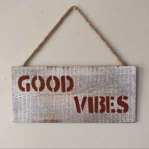 Good Vibes - Wooden Home Decor